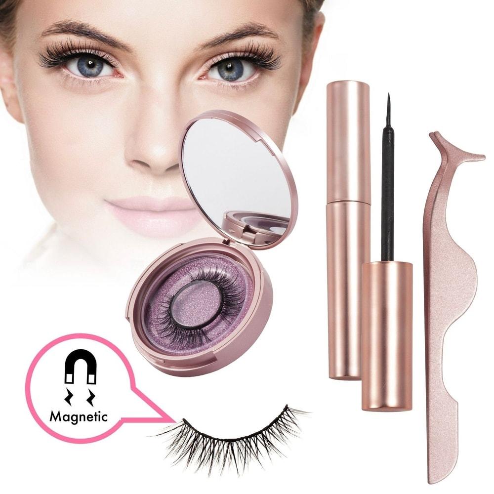 Zodaca Magnetic Eyeliner and Magnetic Lash, Reuseble Eyelash Natural Look Eyelashes Extensions