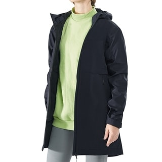 Link to Women's Hooded Windproof Trench Rain Jacket Navy Similar Items in Women's Outerwear