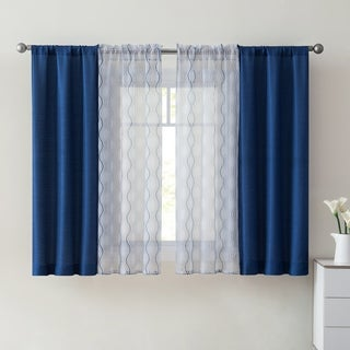 "Link to VCNY Home Jace Window Curtain Set, 4 Pieces - 28"" x 84"" Similar Items in Window Treatments"