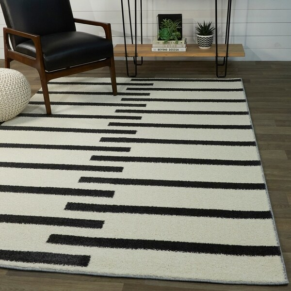 Colter Modern Striped Area Rug