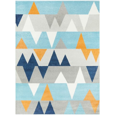 Modern Geometric Contemporary Area Rug