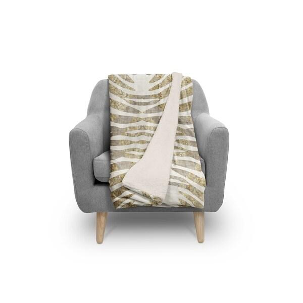 ZEBRA GOLD Sherpa Comforter By Kavka Designs. Opens flyout.
