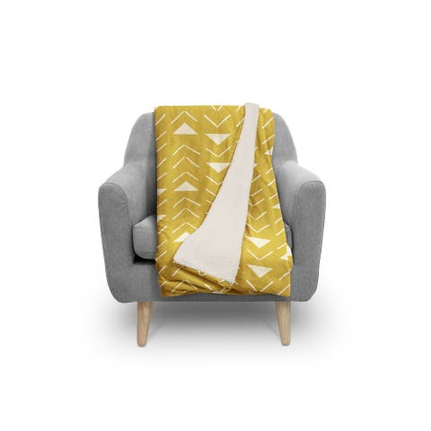 MUD CLOTH VECTOR GOLD Sherpa Comforter By Kavka Designs