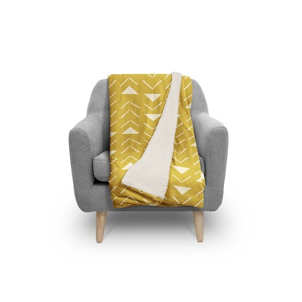 MUD CLOTH VECTOR GOLD Sherpa Comforter By Kavka Designs. Opens flyout.