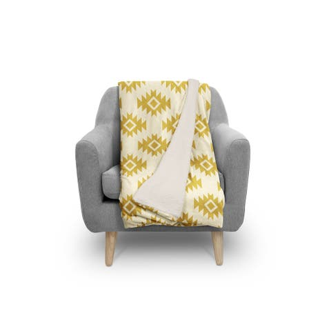 THIRD EYE KILIM GOLD Sherpa Comforter By Kavka Designs