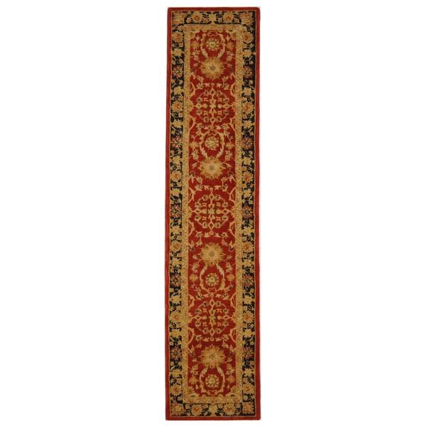Safavieh Handmade Anatolia Oriental Oushak Traditional Red Hand-spun Wool Runner (2'3 x 14')