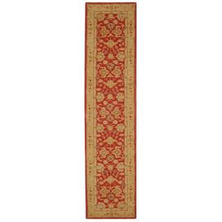 Safavieh Handmade Anatolia Oriental Red/ Ivory Hand-spun Wool Runner (2'3 x 14')