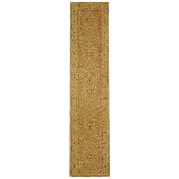 Safavieh Handmade Anatolia Oriental Tan/ Ivory Hand-spun Wool Runner (2'3 x 14')