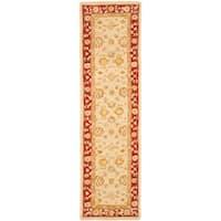 """Safavieh Handmade Anatolia Oriental Ivory/ Red Hand-spun Wool Runner Rug - 2'3"""" x 14'"""