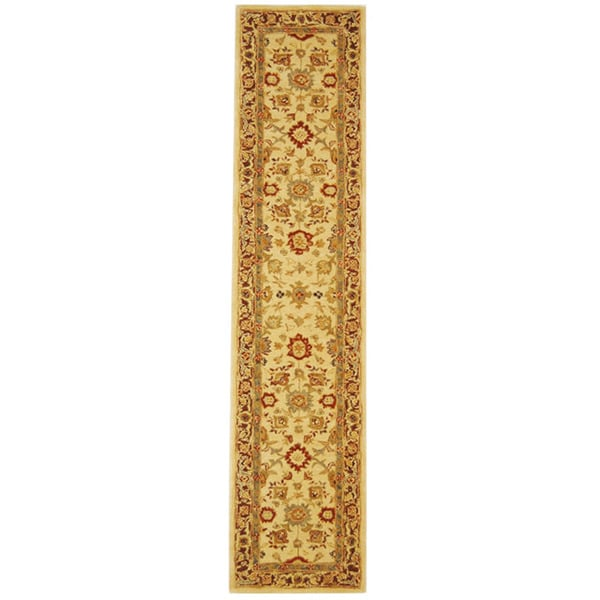 Safavieh Handmade Anatolia Oriental Heirloom Ivory Hand-spun Wool Runner (2'3 x 14')