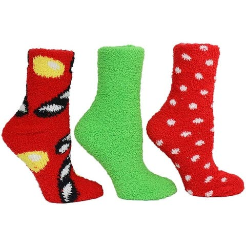 Betsey Johnson Womens Candy Cane and Dot Cozy Gift Box