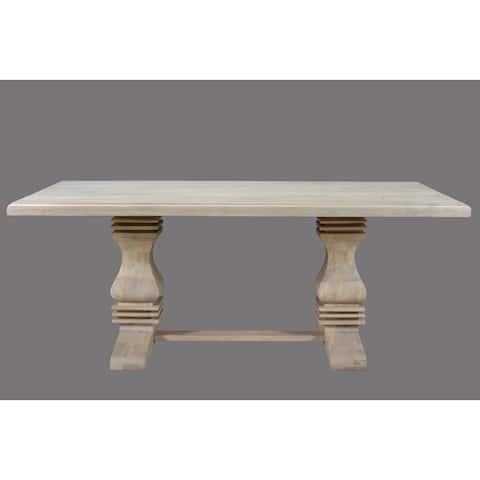 "Maliyah Pedestal Dining Table 96"" - 30"" H x 96"" W x 42"" D"