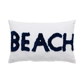 VCNY Home Coastal Beach Letters Decorative Pillow