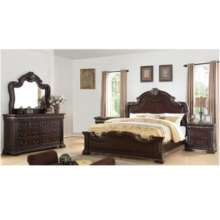 Best Master Furniture 5 Pieces Dark Cherry Bedroom Set