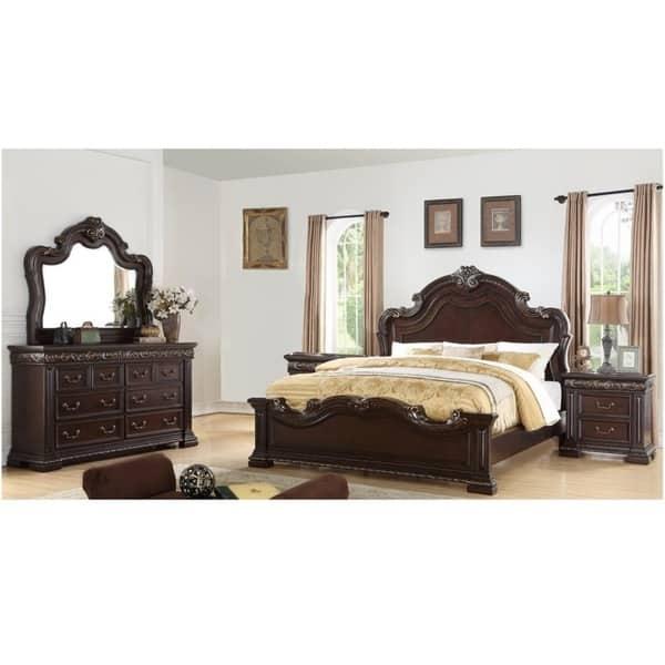 Best Master Furniture 5 Pieces Dark Cherry Bedroom Set Overstock 30382584 Eastern King