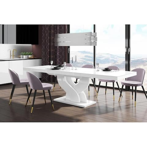 Strick & Bolton Faye Extendable Trestle Dining Table