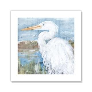 White Heron - Blue