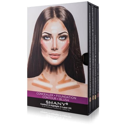 SHANY 4-Layer Contour and Highlighting Makeup Set - Set of Four Contour Palettes - MULTI-COLORED
