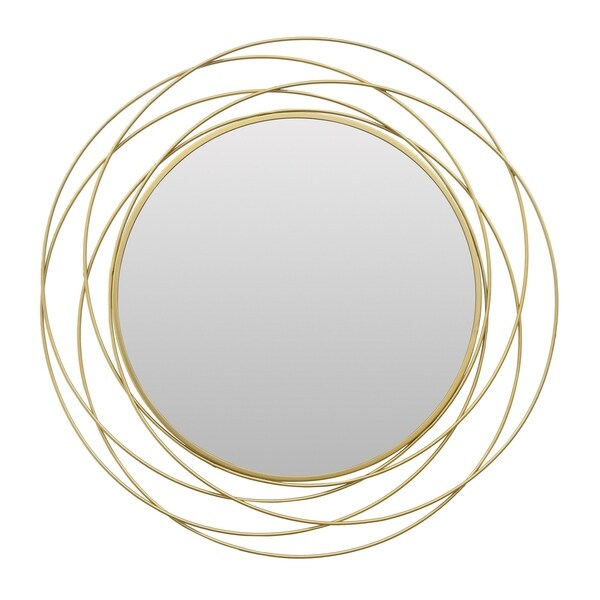Wall Mirror in Gold Metal 28in L x 1in W x 28in H