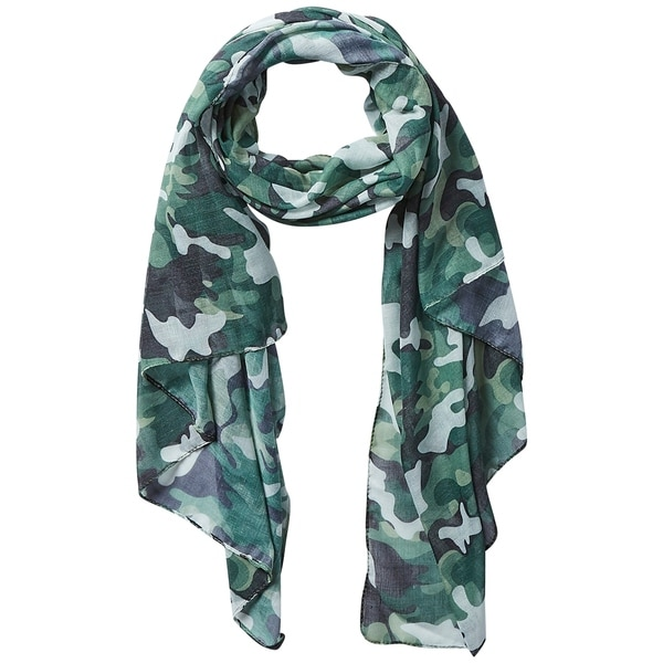 Tickled Pink Green Camo Insect Shield Scarf. Opens flyout.