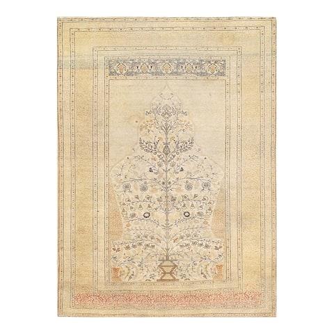 Pasargad DC Ivory Persian Antique Tabriz - 4' x 6'