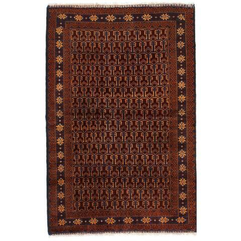 Pasargad DC Brown Balouchi prayer Rug - 3' x 5'