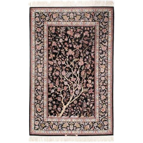 Pasargad DC Persian Isfahan Korker Wool & Silk - 4'11??7'6? - 4'11×7'6