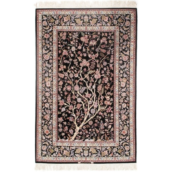 Pasargad DC Persian Isfahan Korker Wool & Silk - 4'11??7'6? - 4'11″×7'6″. Opens flyout.