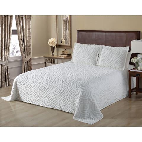 Alicia Wedding Chenille Bedspread Queen Ivory
