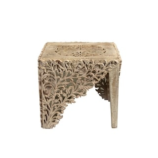Syracuse Carved End Table