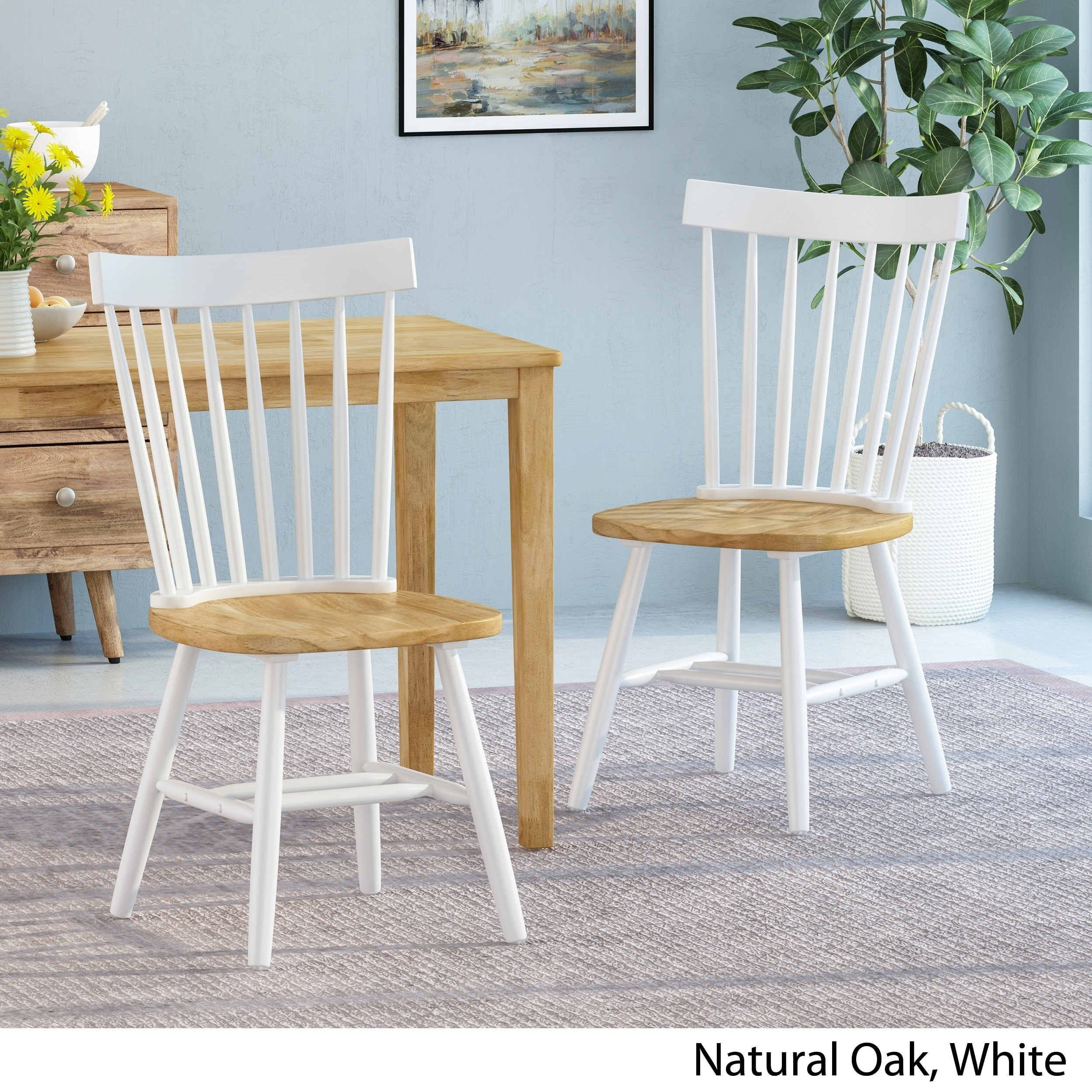 Balcomb Farmhouse Dining Chairs Set Of 2 By Christopher Knight Home On Sale Overstock 30386552