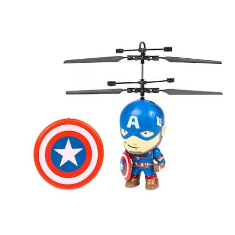 Captain America 3.5 Inch Flying Figure IR UFO Big Head Helicopter