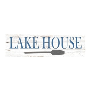 """LakeHouseWoodSign15"""" x 4"""""""