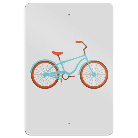 "Bicycle Bike Wood Sign 6"" x 9"""