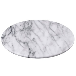 """Creative Home Natural Marble 12"""" Diam. Round Board Cheese Serving Plate, - N/A"""