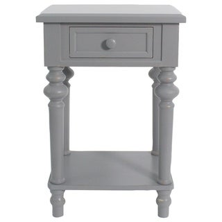 """Brooks Accent End Table, 25 3/4"""" Tall, Gray"""
