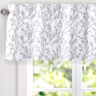 DriftAway Sarah Floral Tree Branch Pattern Blackout Window Curtain Valance - 52'' width x 18'' length