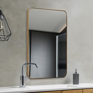Link to Strick & Bolton Gold-finished Recessed Wall Mirror - 24*36*0.79 Similar Items in Bedroom Furniture