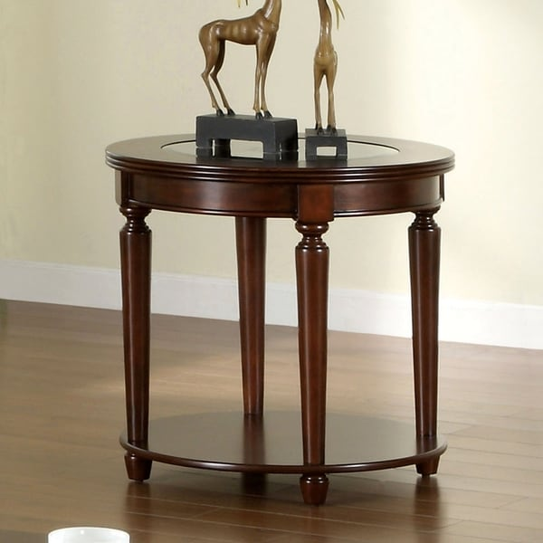 Furniture of America Nill Transitional Cherry Solid Wood End Table. Opens flyout.