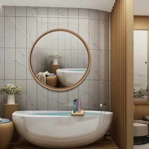 Carson Carrington Ingebyfjoln Round Wall-Mounted Bathroom Vanity Hanging Mirror
