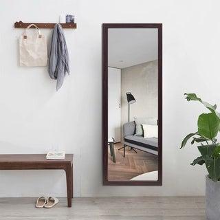 Modern Rectangular Full-Length Right Angle Wall-Mounted Mirror - 15.8''x39.4''x0.7''