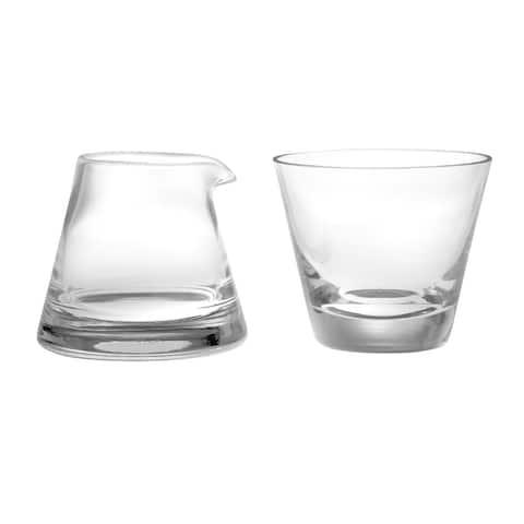 Majestic Gifts Inc. European Glass Creamer & Sugar Set