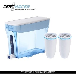 ZeroWater 23-Cup Pitcher with 2 Filters