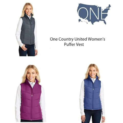 One Country United Women's Puffer Vest