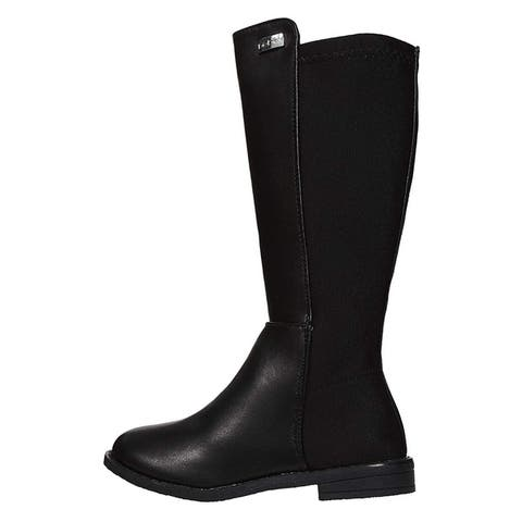 bebe Girls Riding Boots Elastic Back Panels Dress Slip-On Winter Shoes