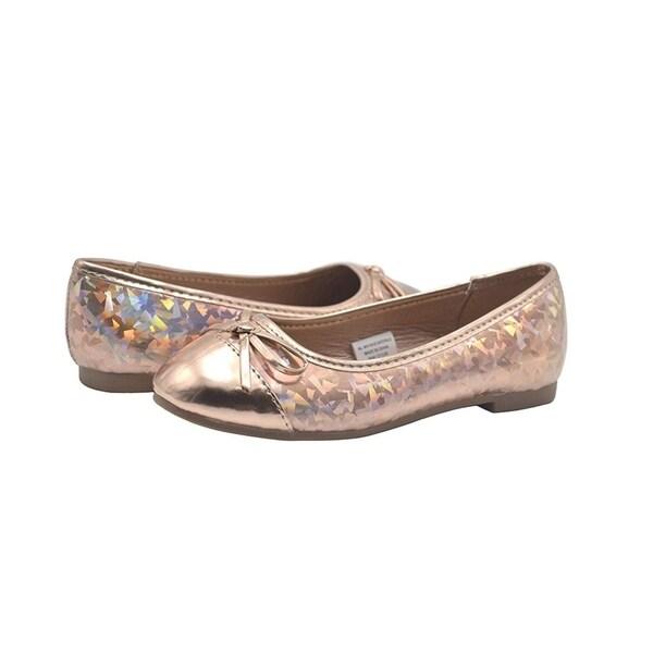 bebe Kids Girls Ballet Flat Slip On Shoes With Stitched Logo Medallion More...