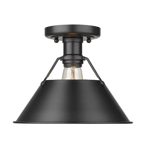 Golden Lighting Orwell 1-light Industrial Flush Mount Ceiling Light - 10 Dia x 8 H