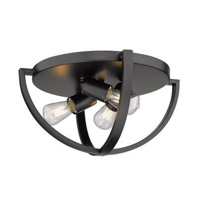 Colson 15-inch Industrial Chic Flush Mount