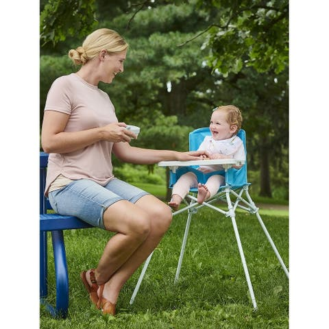 Regalo My Chair Portable High Chair, Aqua