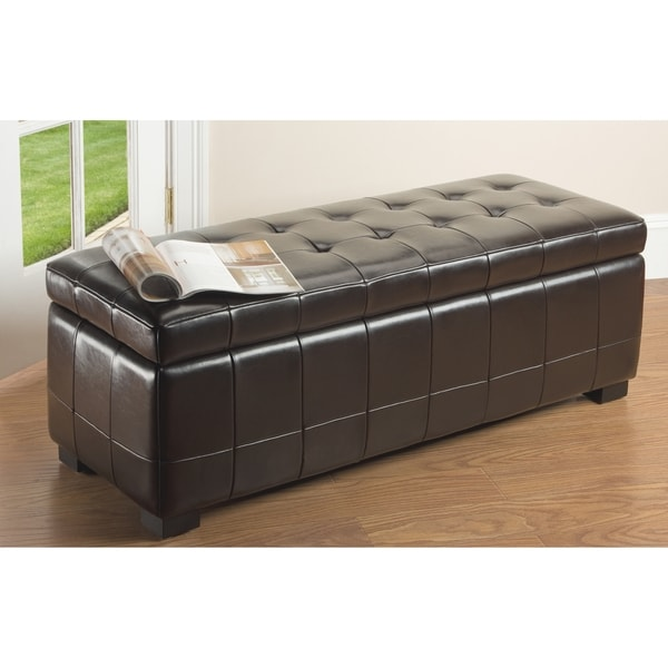 Safavieh Large Brown Manhattan Storage Bench